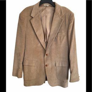 Men's Tan Corduroy Sports Jacket  Blazer Formal